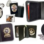Leather Badge Holder Wallet, Badge Holder Cases, ID Card, Police Badge Holder Purse